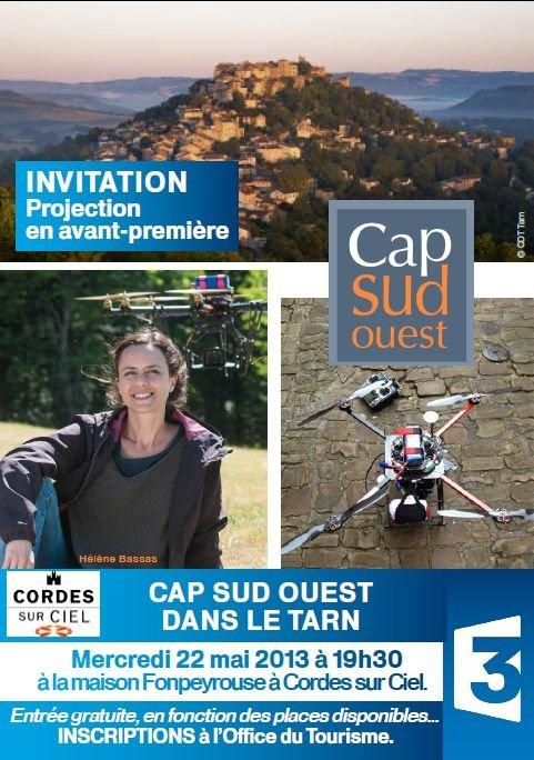 Lagarde Viaur sur France 3 Sud - Invitation pour l'avant-première dans Messages de l'association affiche-avant-premiere-france-3-cordes-22-mai-2013