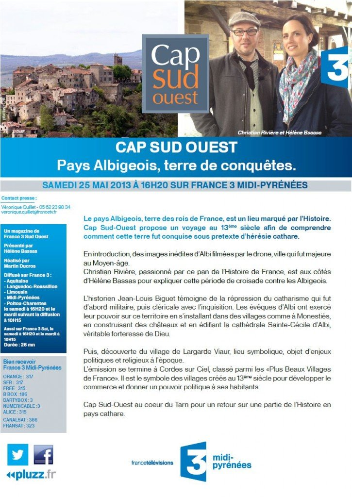 Lagarde Viaur sur France 3 Sud en replay dans Messages de l'association france-3-cap-sud-ouest