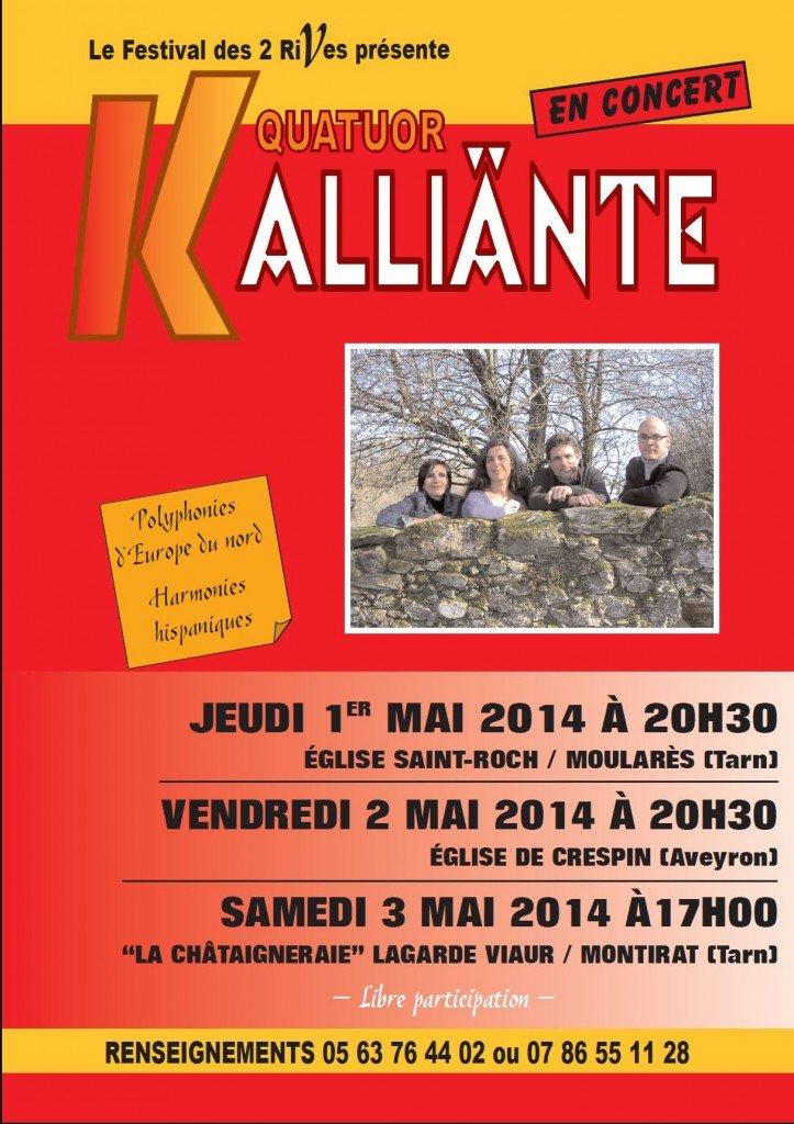 Affiche Kalliante 2014