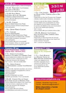 Programme Printemps des 2 rives 2014
