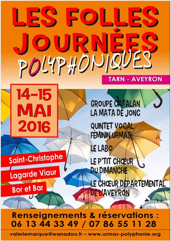 Folles journees 2016