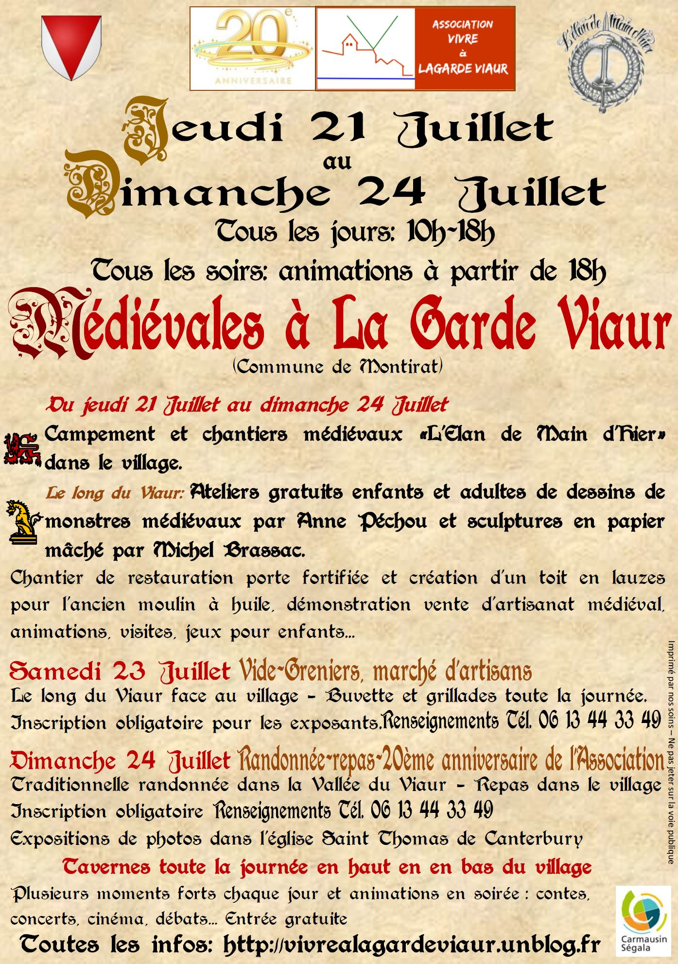 lagarde Viaur Medievales 2016